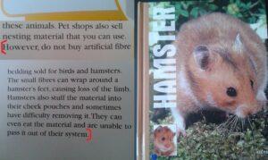 Fluffy Bedding Dangerous Warning Hamster book sue fox